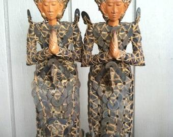Vintage Kepeng Coin Goddess Statues (2)