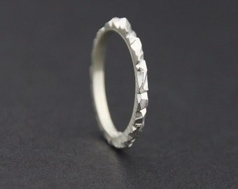 Mini Facet Ring: Sterling Silver, 1.5mm