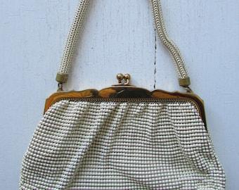 Whiting and Davis 1950's mesh handbag