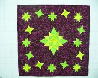 Shimmering Stars Quilted Wall Hanging