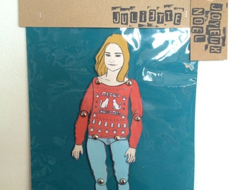 Personalized paper doll, custom made paper doll portrait