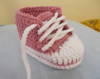 CROCHET PATTERN, Baby pattern, Baby Shoes pattern, Crochet Baby Booties, Sneakers baby pattern, shoes baby pattern