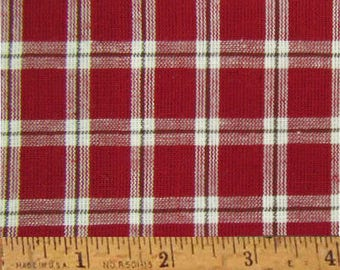 "Red Delicious 6 Homespun Cotton Fabric (Full Yard 36"" x 44"")"