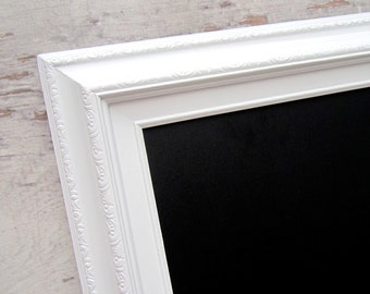"""Office Organizer 53""""x29"""" EXTRA LARGE MAGNETIC Chalkboard White Framed Modern Long Rectangular Framed Chalk board - ExTRA LaRGE White Framed"""
