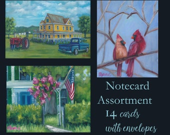 art notecards, thank you cards, custom cards, greeting cards, cards, notes, stationary, cardinals