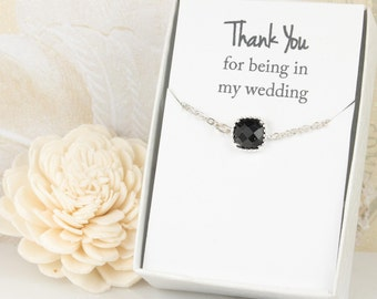 Black Silver Bracelet, Black Bracelet, Bridesmaid Black Bracelet, Silver Bracelet, Bridesmaid Bracelet, Bridesmaid Jewelry