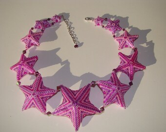 3D Peyote Star Necklace