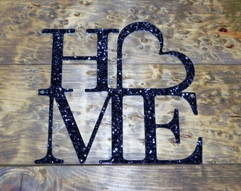 HOME WITH HEART Steel Sign