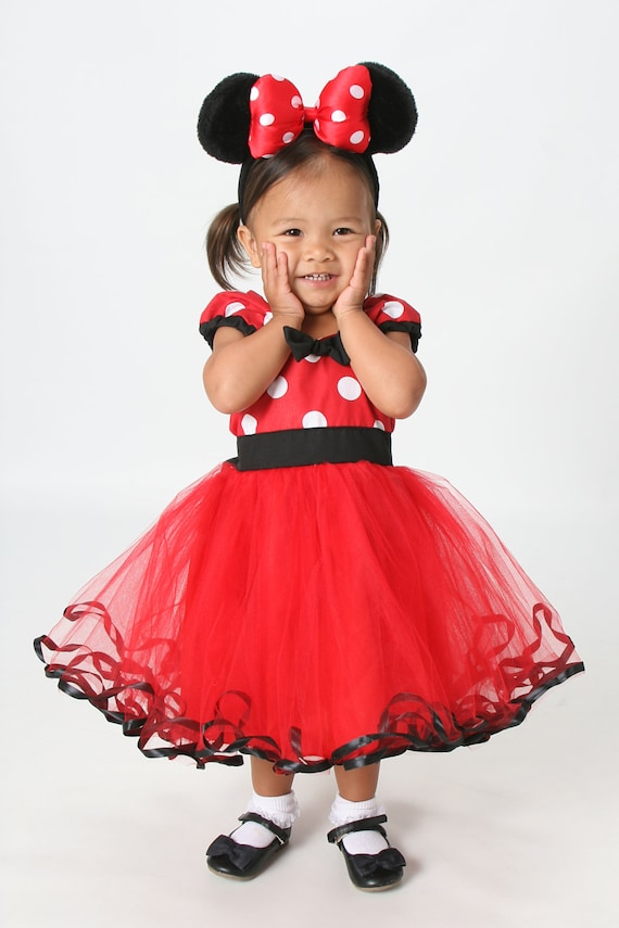 Red MINNIE MOUSE dress Minnie Mouse TUTU dress Minnie Mouse