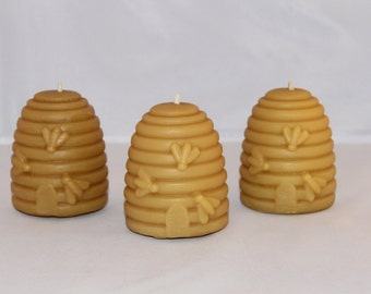 Pure Beehive Beeswax Candle large