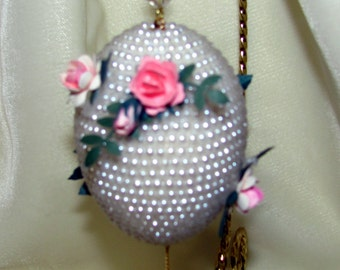 Beaded Chicken Egg in the Faberge Style