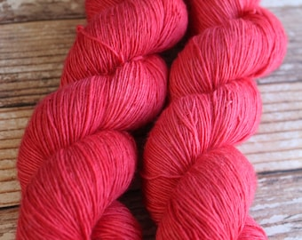 Maria - Righteous Red - Hand Dyed Yarn - 100% Superwash Merino/Single-ply