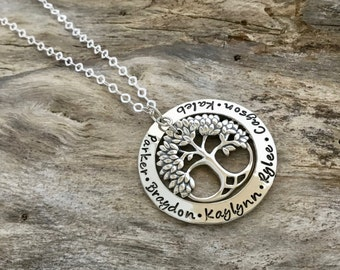 Family Tree Necklace | Sterling Silver  | Family Tree of Life Necklace | Christmas gift | Gift for Mom | Mother Necklace | Mom Jewelry