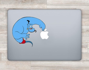 Disney MacBook Sticker Disney MacBook Decal Aladdin Laptop Decal Laptop Sticker Genie MacBook Pro 2016 MacBook Retina MacBook Air Lamp bn578