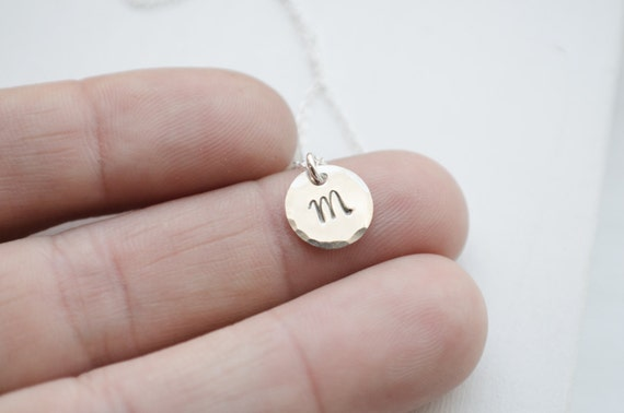 Initial Necklace - Sterling Silver, Gold Filled or Rose Gold Filled