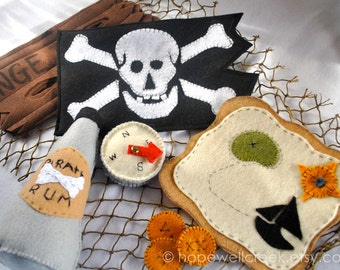 Pirate Play Set, Felt Handmade Toy