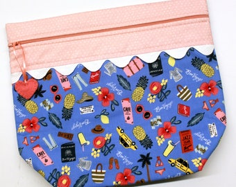 Big Bottom Bag Travel With Me Cross Stitch, Sewing, Embroidery Project Bag