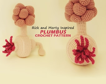 Amigurumi Plumbus Pattern / Rick and Morty Inspired Crochet Pattern / Photo Tutorial / Instant Download