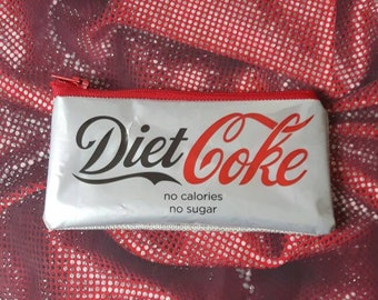 Diet Coke Purse, Makeup Bag, Treasure Bag Handmade from a Recycled Drinks Label by mylittlesweethearts