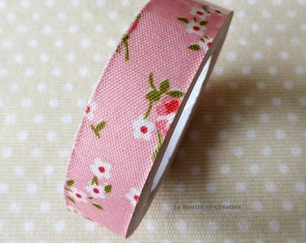 Roll 4 m tape fabric rose flowers Liberty