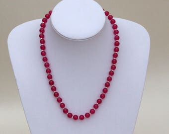 Rose Jade Necklace