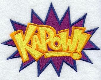 Comic Book KAPOW geborduurde bloem Sack Hand/schotelhanddoek cartoon