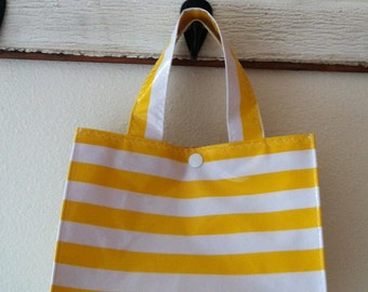 Beth's Stripes Oilcloth Lunch box Tote Bag Multiple colors