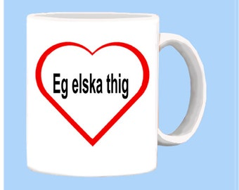 Icelandic I LOVE YOU mug