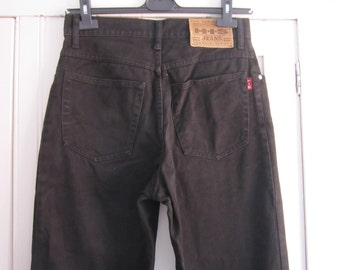 Vintage 80s HIS Black High Waist Jeans size 30/34