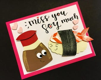 Miss You SOY Much - Hand Cut Card