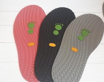 Color rubber soles felted shoes Flexible outsoles felted footwear Slipper soles Moxies soles non slip House shoe soles Custom soles 345 mm