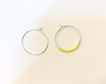 20 hoop earrings brass 20mm silver jewelry designs