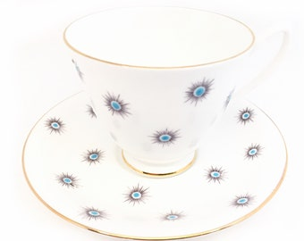 Royal Albert Star of Eve Tea Cup and Saucer, Smooth Shape, Collectible, Birthday Gift