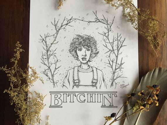 Eleven Hand Drawn Art Print Coloring Page Wall Decor