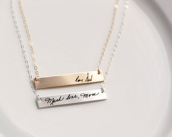 Handwriting Necklace / Signature Necklace / Handwriting Jewelry / Actual Handwriting / Custom Handwriting Necklace / Signature Jewelry