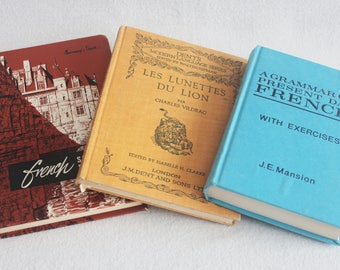 Old Book Journal / Choose your Rebound Journal // French Language Books // Recycled Vintage Book by PrairiePeasant