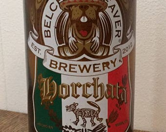 Belching Beaver Brewery Horchata Imperial Stout Beer Bottle Pint Glass
