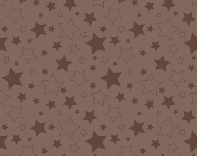 Half Yard Cotton Stars in Brown - Cotton Quilt Fabric - RBD Designers for Riley Blake Designs (W782)