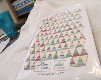 """Paper Pattern for a quilt called The Tree Farm by Sweetwater for Moda 56"""" x 82"""""""