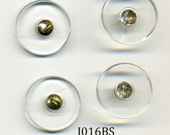 Button Shanks 25 - 15mm Glass with Brass Loop - item J016BS