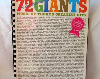 Music Book Hansen's 72 Giants Featuring Ann Murray Photo For Piano, Vocal, Organ, Guitar 70's Vintage Free Shipping