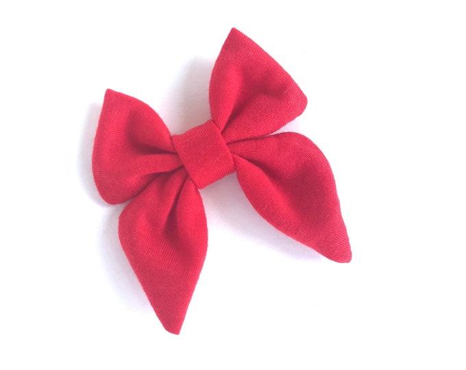 Red sailor hair bow - sailor bows, hair bows, girls hair bows, hair bows for girls, toddler hair bows, baby hair bows, fabric bows, hairbows