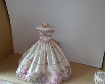 1-12th Scale miniature dress.