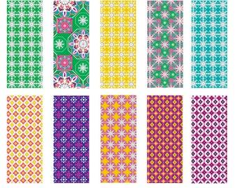 Moroccan Mix - Seamless Pattern Digital Download Prints - Set of 10 Paper Pack - jpeg files