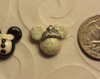 Disney Bride and Groom Mickey Ear Earrings