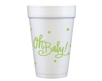 Foam Cups | Oh Baby (green - gender neutral)