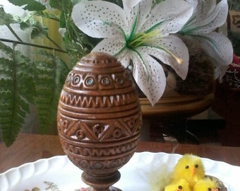 Decorative souvenir Souvenir Easter Easter decor Easter gift Gift  for wife Mother's Day Carving wood souvenir Daughter gift Easter egg