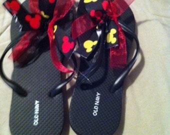 DCL Disney theme flip flops women's size 5/6 & 7