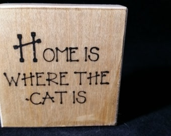 Home is where the cat is Used Rubber stamp View all Photos