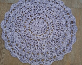Doily or placemat breakfast majority cotton and acrylic purple shabby hygge
